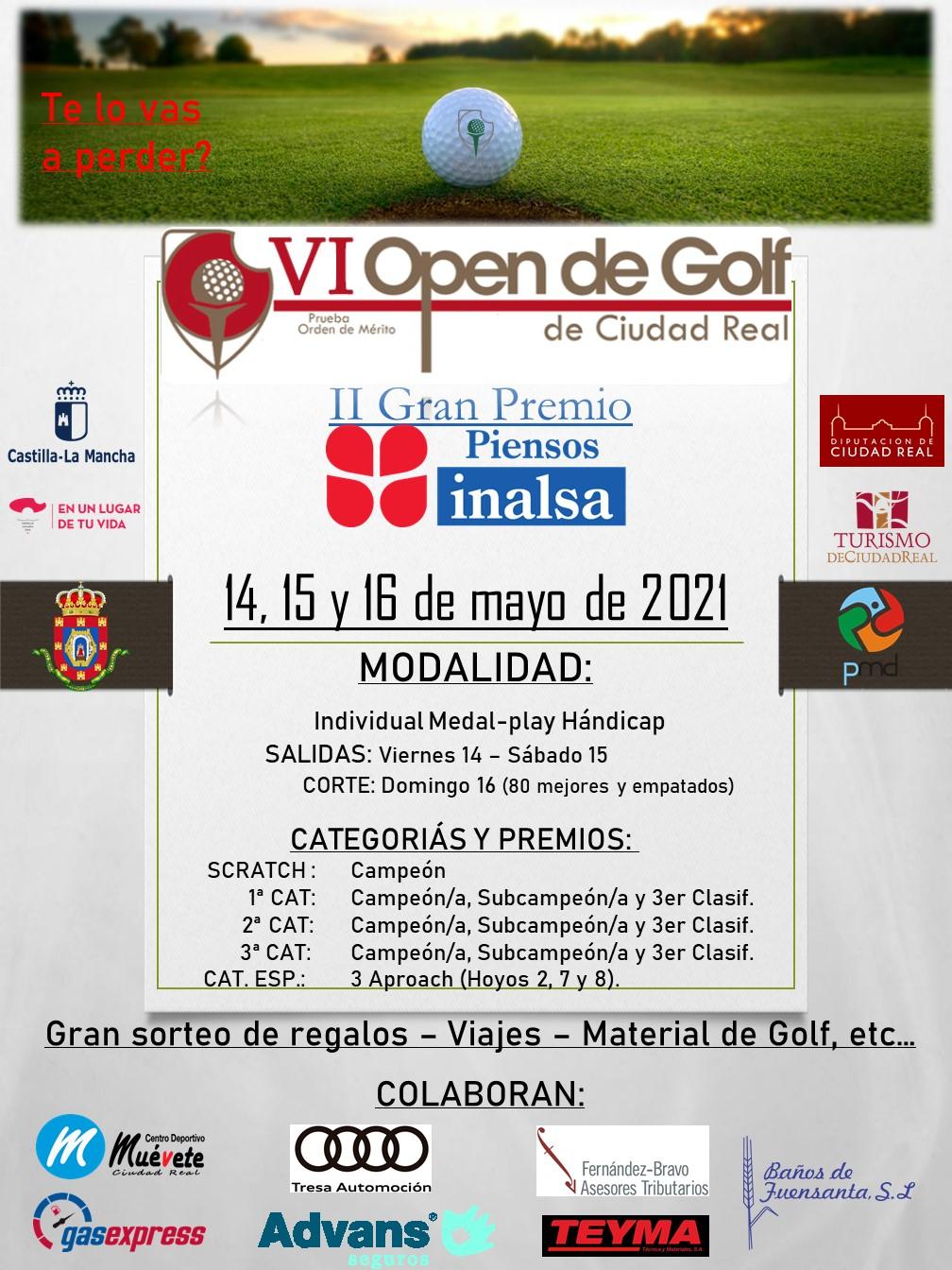 Cartel VI Open GCR - II Gran Premio Inalsa
